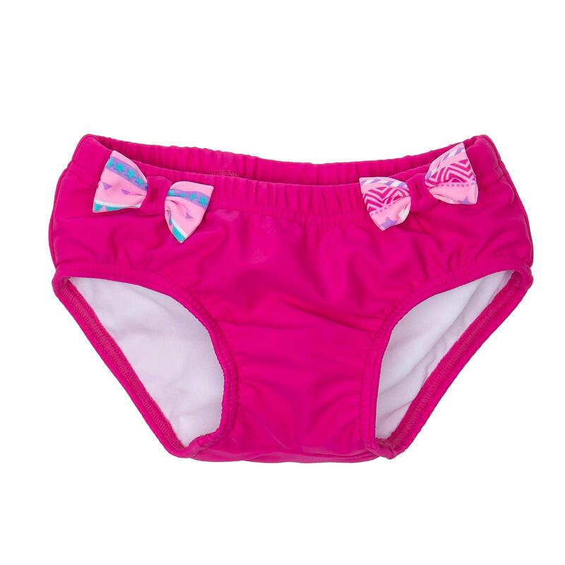 Braguita Bikini Pañal Lavable Bebé Natación Piscina Rosa