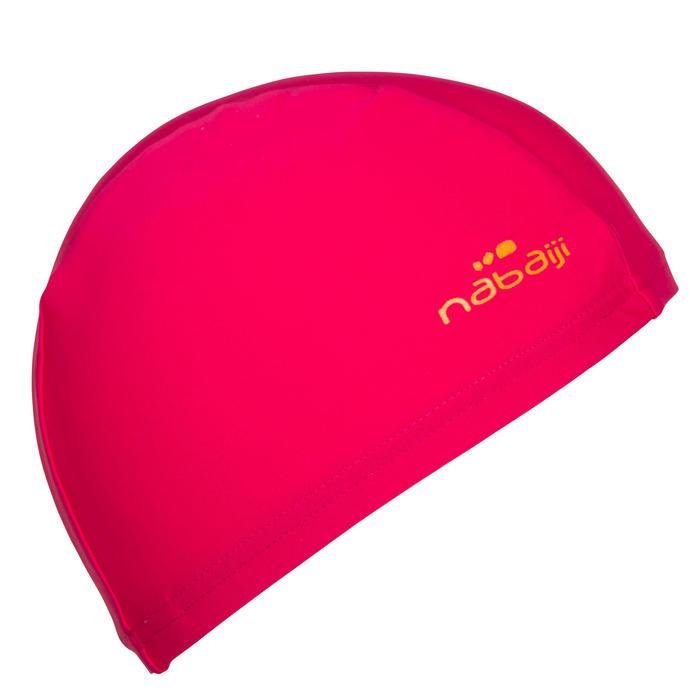 Badekappe Stoff Uni pink