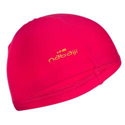 Bonnet de bain en tissu maille rose taille P et G