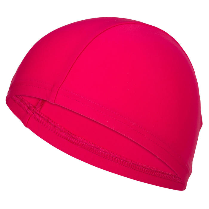 Badekappe Stoff Uni rosa