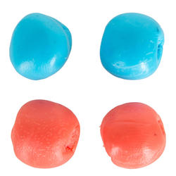 BLUE AND PINK MALLEABLE THERMOPLASTIC SWIMMING EAR PLUGS