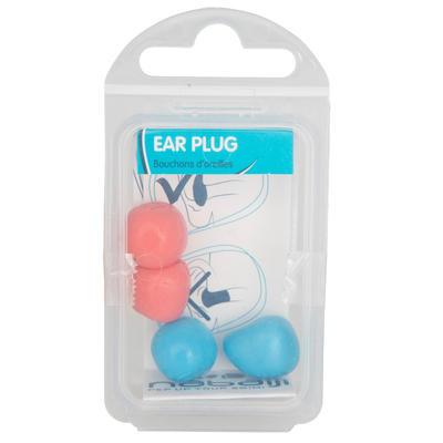 אטמי אוזניים לשחייה צבעוניים מסיליקון - אדום וכחול