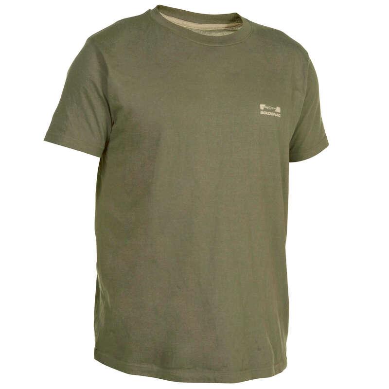 Jagdshirts, Jagd-Poloshirts Herrenbekleidung - Jagd-T-Shirt 100 grün SOLOGNAC - Oberbekleidung Herren