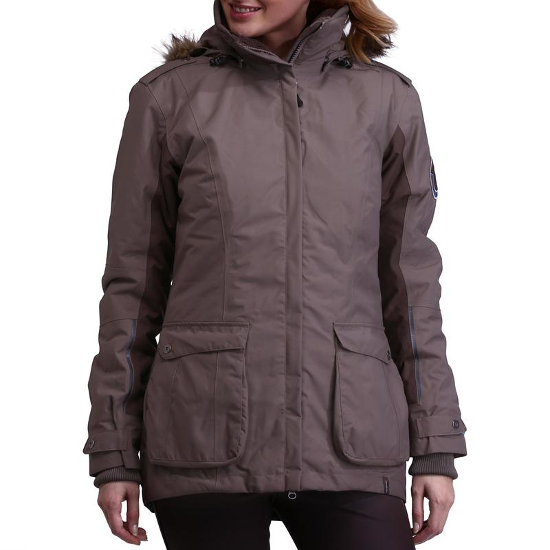 Paddock Women s Warm Horse Riding Parka - Brown  1e6d0e818e