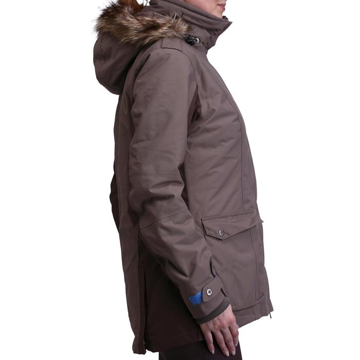 Warme damesparka Paddock voor ruitersport bruin