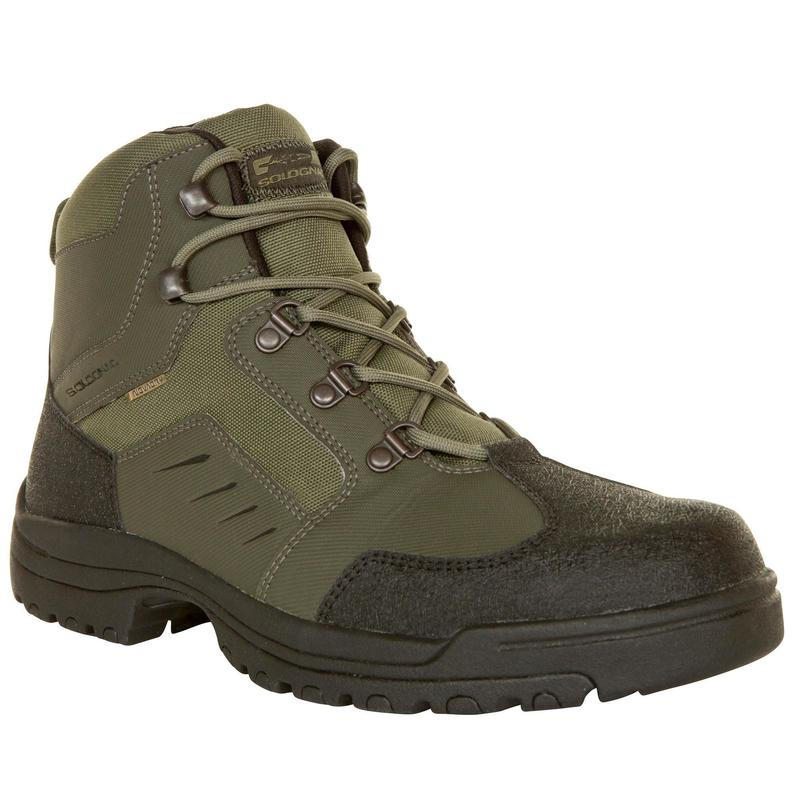 Chaussures chasse imperméables verte Crosshunt 100