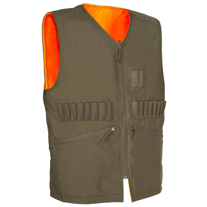 Gilet chasse Steppe 300 réversible fluo - 72310