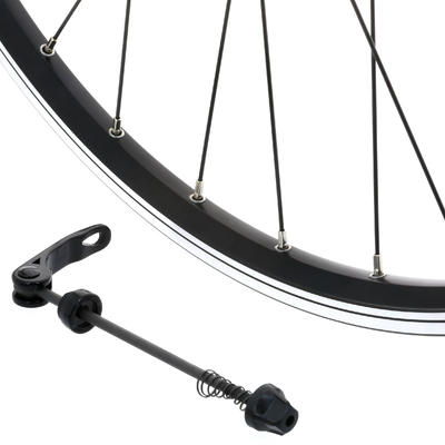 "Front Wheel 28"" Double Wall Rim V-Brake Quick Release Hybrid Bike - Black"