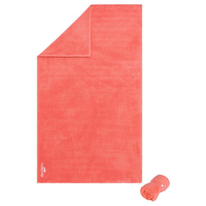 Zachte microvezel handdoek oranje maat L 80 x 130 cm