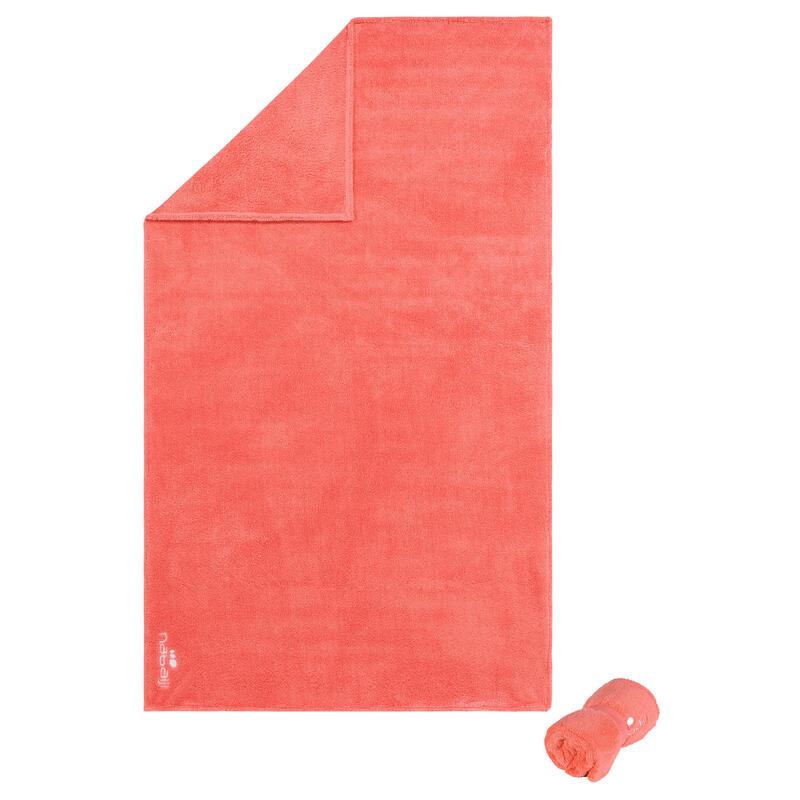 Superzachte microvezel handdoek oranje maat L 80 x 130 cm