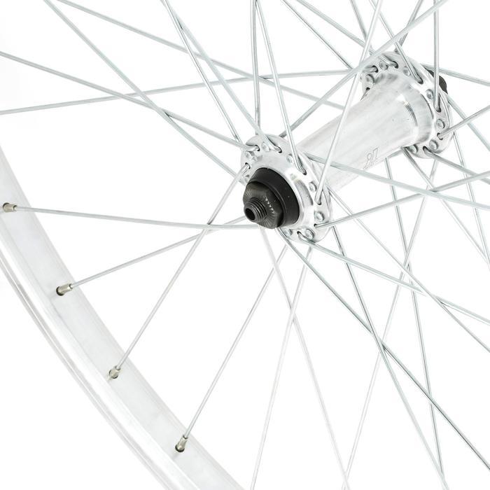 """Voorwiel voor MTB 26"""" enkelwandig remblokjes zilverkleurig"""