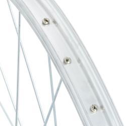 MTB voorwiel 26 inch enkelwandig remblokjes zilverkleurig