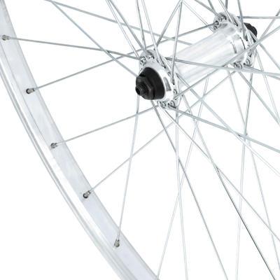 "Wheel 28"" Front Single Wall V-brake Quick Release Hybrid Bike - Grey"