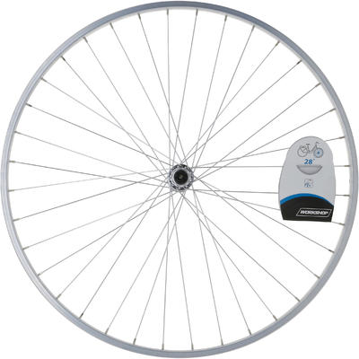 "Wheel 28"" Front Single Wall V-brake Quick Release Hybrid Bike - Silver"