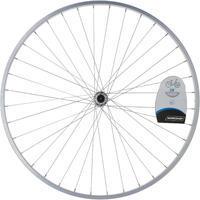 """Переднє колесо для гібридного велосипеда 28"""" - Срібне"""