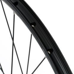 MTB voorwiel 26 inch dubbelwandig schijfrem zwart