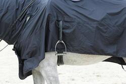 Waterdicht paardendeken Protect'Rain ruitersport paard en pony zwart - 725847