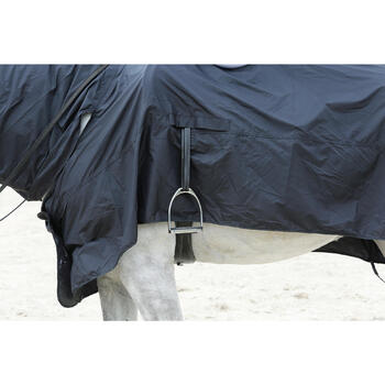 Chemise imperméable équitation poney et cheval PROTECT'RAIN noir - 725847