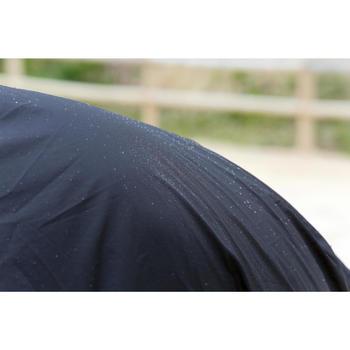 Chemise imperméable équitation poney et cheval PROTECT'RAIN noir - 725848