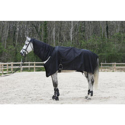 Waterdicht paardendeken Protect'Rain ruitersport paard en pony zwart - 725849
