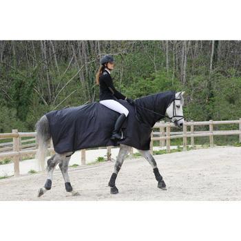 Chemise imperméable équitation poney et cheval PROTECT'RAIN noir - 725851