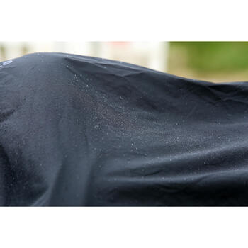 Chemise imperméable équitation poney et cheval PROTECT'RAIN noir - 725852