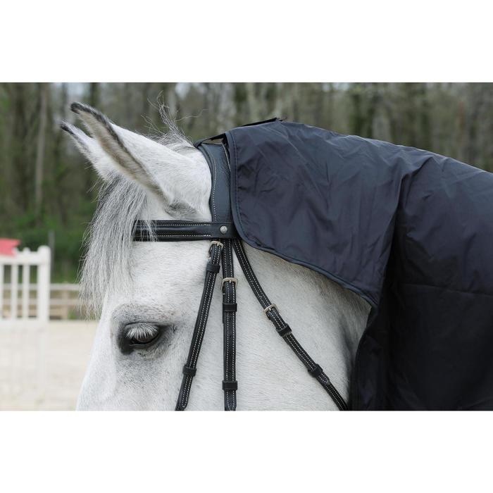 Chemise imperméable équitation poney et cheval PROTECT'RAIN noir - 725853