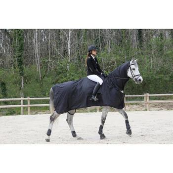 Chemise imperméable équitation poney et cheval PROTECT'RAIN noir - 725854