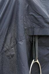 Waterdicht paardendeken Protect'Rain ruitersport paard en pony zwart - 725855
