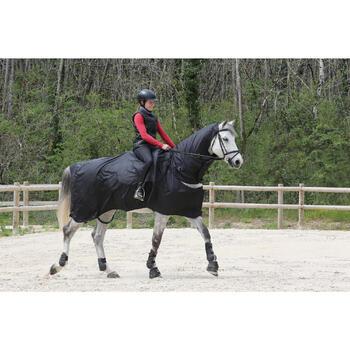 Chemise imperméable équitation poney et cheval PROTECT'RAIN noir - 725856