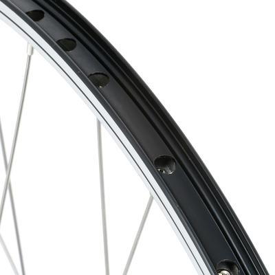 "Mountain Bike Wheel 26"" Rear Double-Walled Rim/V-Brake Disc Cassette - Black"