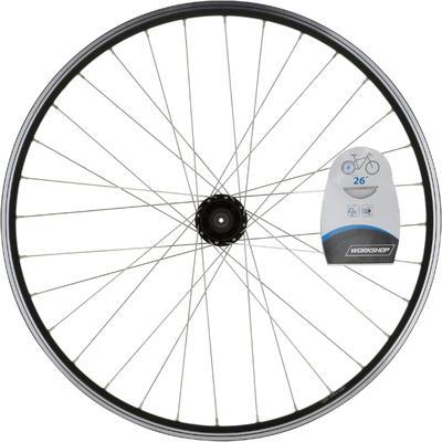 "Rueda Bicicleta MTB 26"" Trasera Disco / V-Brake Cassette Doble Pared Negra"