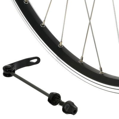 "Rueda Bicicleta MTB 26"" Delantera Disco / V-Brake Doble Pared Negra"