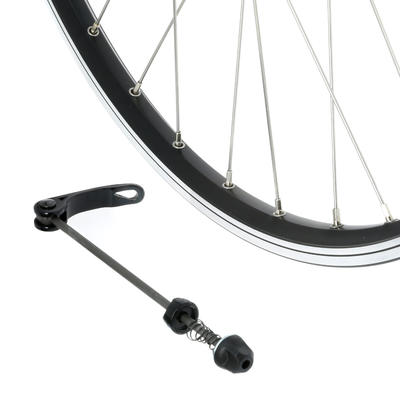 "Mountain Bike Wheel 26"" Rear Double-Walled Rim/V-Brake Disc Cassette - Black"