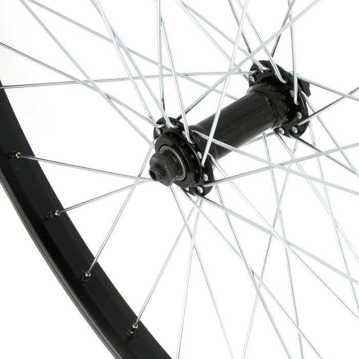 MTB voorwiel 26 inch enkelwandig remblokjes zwart