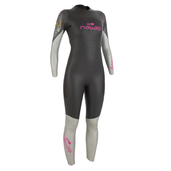 Dames zwempak OWSwim in neopreen van 4/3 mm voor koud open water - 727162