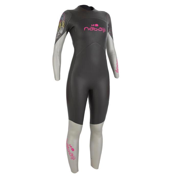 Combinaison de natation néoprène nage en eau libre OWS550 4/3mm femme - 727162
