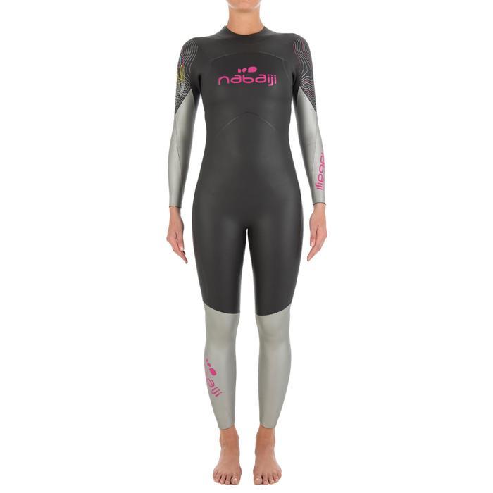 Combinaison de natation néoprène nage en eau libre OWS550 4/3mm femme - 727165