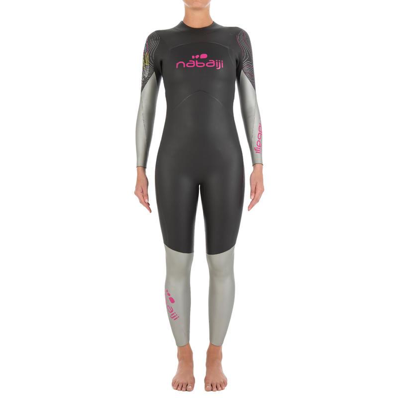 Traje de natación neoprén natación en aguas abiertas OWS550 4/3 mm mujer