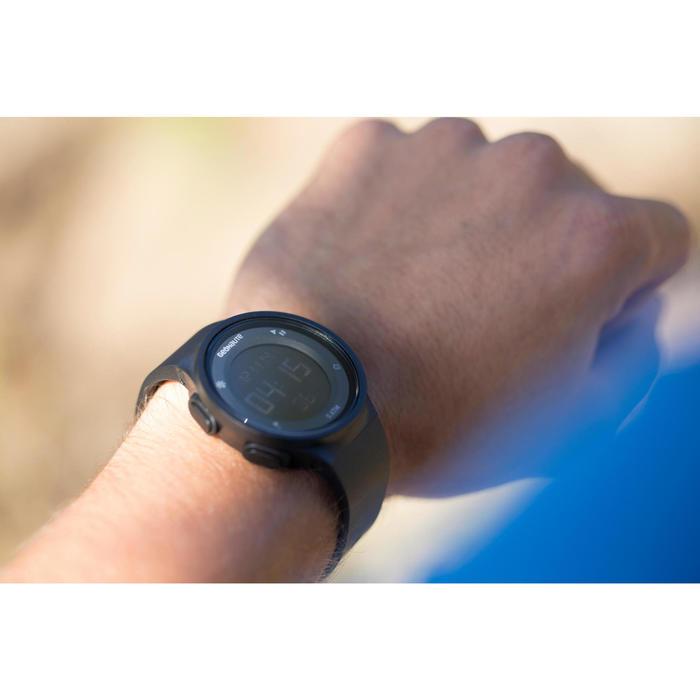 Montre chronomètre de course à pied homme W500 M noire reverse - 727405