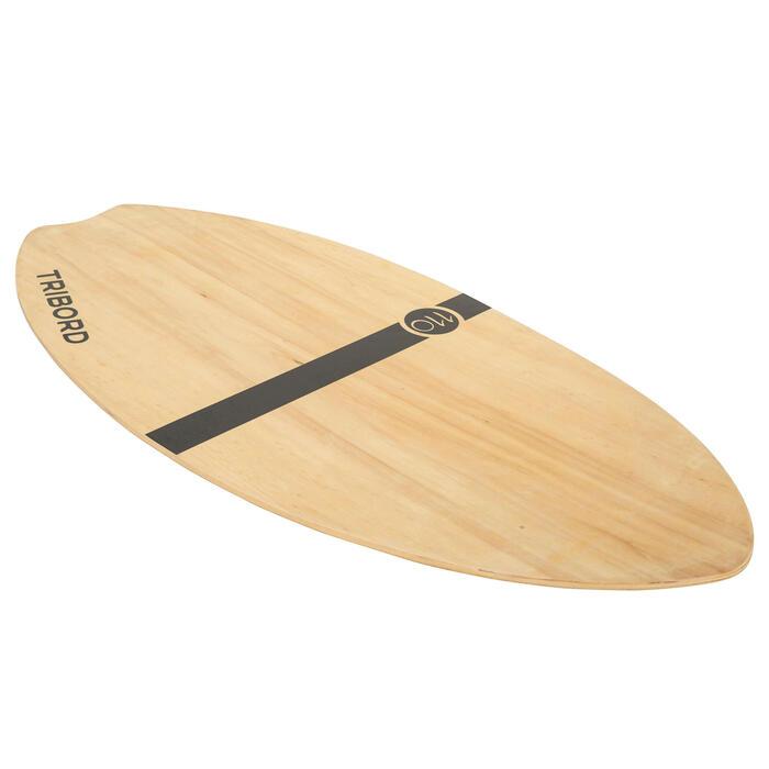 Skimboard en bois 500 pour adultes de moins de 80 kg. - 728042