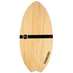 Houten skimboard 500 voor volwassenen van minder dan 80 kg.