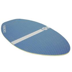 Houten skimboard 500 voor kinderen, antislip pad, blauw. - 728152