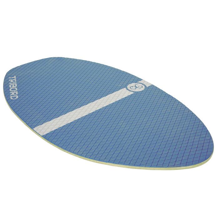 Skimboard en bois 500 pour enfant avec pad antidérapant bleu. - 728152