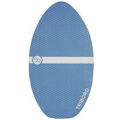 Houten skimboard 500 voor kinderen, antislip pad, blauw. - 728154
