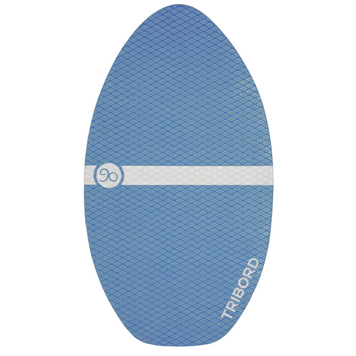 Skimboard en bois 500 pour enfant avec pad antidérapant bleu. - 728154