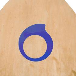 Houten skimboard 500 voor kinderen, antislip pad, blauw. - 728155
