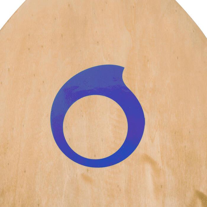 Skimboard en bois 500 pour enfant avec pad antidérapant bleu. - 728155