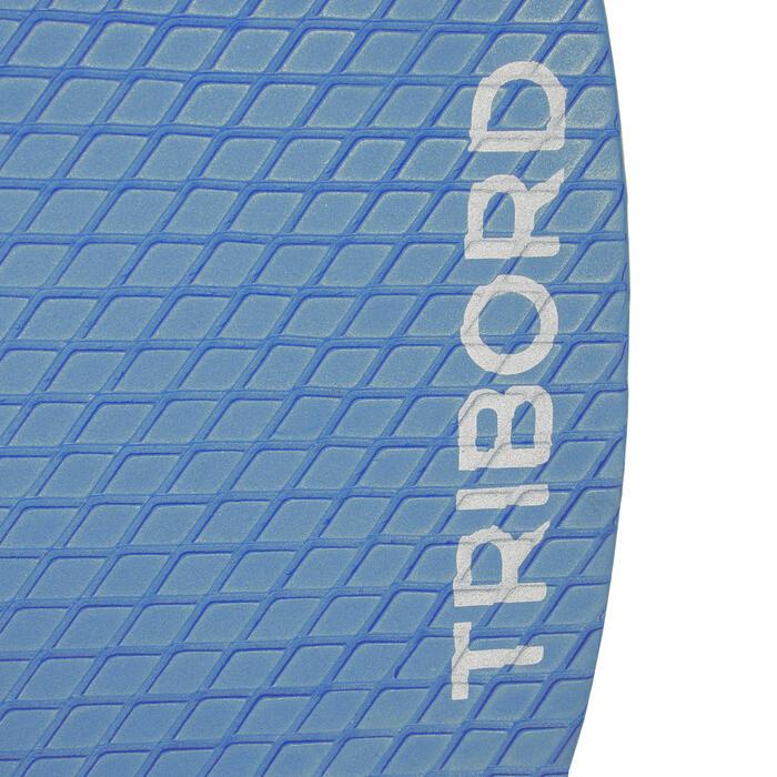Houten skimboard 500 voor kinderen, antislip pad, blauw.