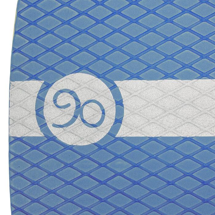Skimboard en bois 500 pour enfant avec pad antidérapant bleu. - 728157